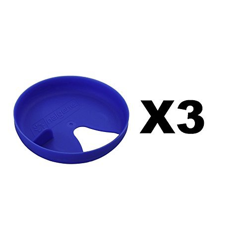 Nalgene Easy Sipper Blue Wide Mouth Water Bottle Splash Guard Insert (3-Pack)