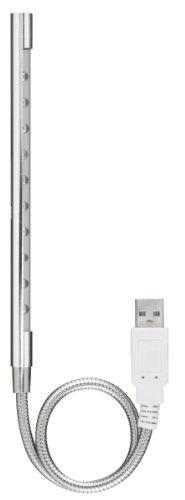 GREEN HOUSE USB 10LEDライト フレキシブルタイプ シルバー GH-LED10FLS