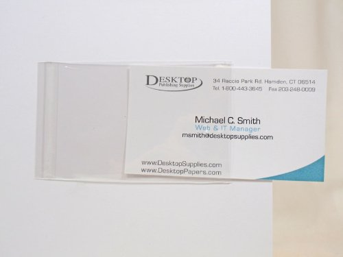 Clear Adhesive Business Card Sleeves - 200 Pieces by Desktop Publishing Supplies, Inc.