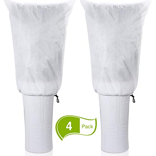 Boao 4 Packs Winter Protection Plant Freeze Frost Protection Covers Winter Plant Covers Cold Cover Plants Cloth Preventing Freezing Frost Bad Weather and Pests Eating, 31.5 x 23.6 Inch