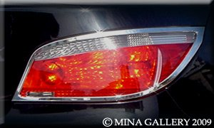 Mina Gallery Chrome tail light trim set for BMW 525 528 530 535 545 550 series 2004 2005 2006 2007 2008 2009