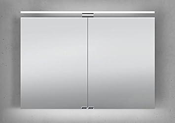 Intarbad Spiegelschrank 100 Cm Led Beleuchtung Doppelseitig