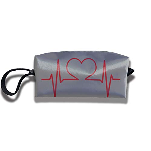 FRTSFLEE Pencil Bag Makeup Bag Nurse and Heart EKG Nursing Women Cosmetic Bag Multifuncition Durable Pouch Zipper Organizer Bag