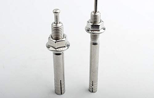 Expansion Screw 2pcs//lot 304 stainless steel Extension expansion bolt M865-150 Hit core expansion screw Fixed Color : 120mm, Specification : M8