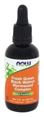 (Now Foods Fresh Green Black Walnut Wormwood Complex, SizeLimit Pack of 8-Ounce Total)