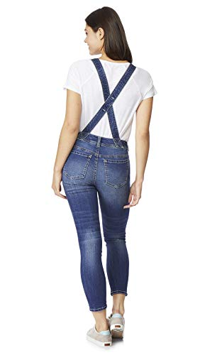 WallFlower Womens Juniors InstaStretch Denim Shortalls
