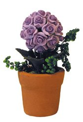 Fleurs en pot violet