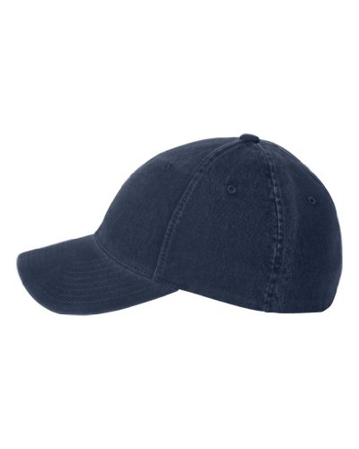 Flexfit Low-profile Soft-structured Garment Washed Cap (Navy, Small/Medium)