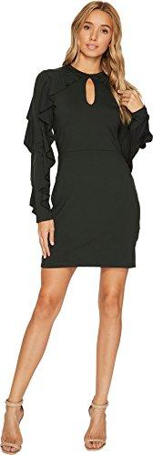 Susana Monaco Women's Cora Long Sleeved Ruffle Dress, Caviar, S