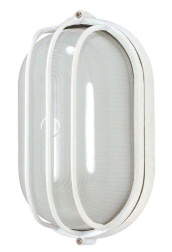 Nuvo Lighting 60/524 Bulkhead 1-Light Oval Cage 60W A19, Semi Gloss (Light Fixtures Oval Bulkhead Cage)