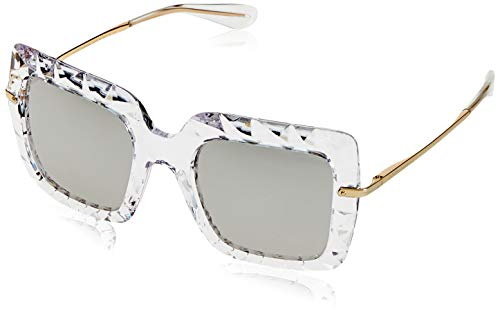 Dolce & Gabbana Women's DG6111 Crystal/Silver/Light Grey Mirror Silver One Size