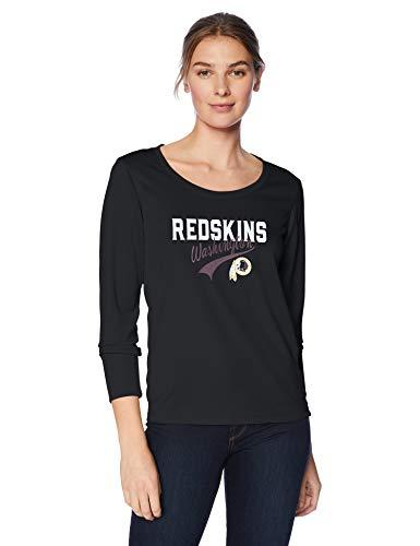 OTS NFL Washington Redskins Women's Poly Long Sleeve Tee, Alternate Team Color Naples, X-Large