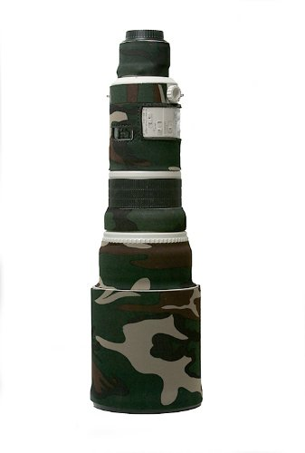 LensCoat Canon 500 Lens Cover (Forest Green Camo) camouflage neoprene camera lens protection sleeve LC500FG