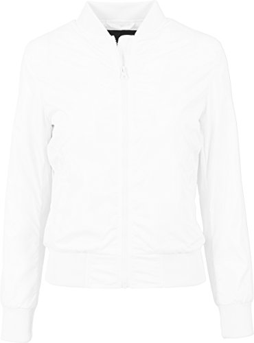 Donna Bomber Bianco Ladies Giacca Jacket Classics Light Urban wpq4fZf