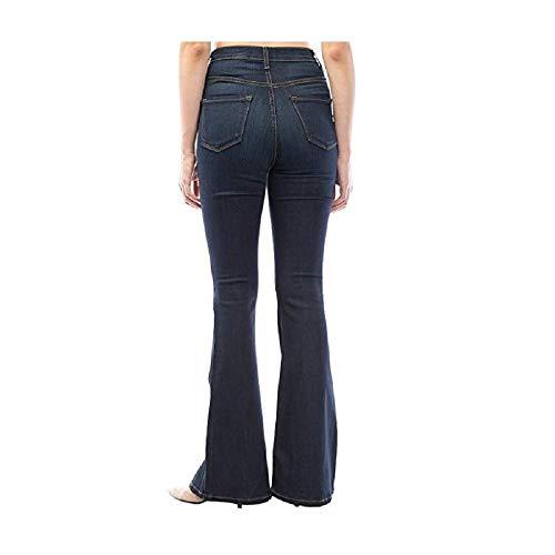 Jeans pour Femme Fonc Bleu Haute Taille Zhrui Uwqgw
