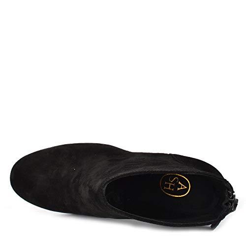 Black Joy Black Footwear Boot Ash Heeled Suede 1Eawxq