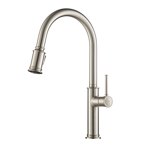 Kraus KPF-1680SFS Sellette Single Handle Pull Down Kitchen Faucet with Dual Function Sprayhead in All-Brite Spot Free Stainless Steel Finish - Single Stainless Steel Range