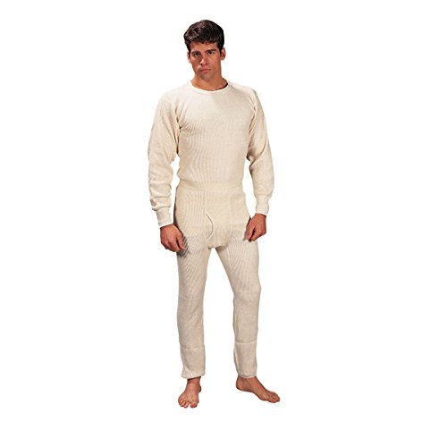 Rothco Heavyweight Thermal Knit Underwear Set - Natural - Large