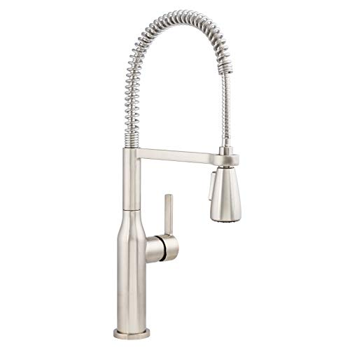 Miseno MNO500DSS Galleria 1.8 GPM Pre-Rinse Kitchen Faucet with Multi-Flow Spray Head - Includes Optional Deck Plate