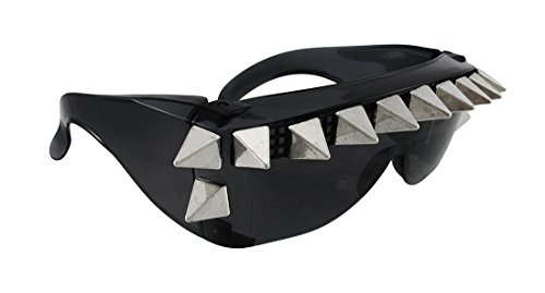 Punk Rock Chrome Pyramid Spiked Sunglasses Cyberpunk - Cyberpunk Sunglasses