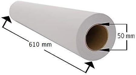 Papel Plotter 61 cm x 50 m 90 gramos m² Paquete de 4 rollos Plotter: Amazon.es: Oficina y papelería