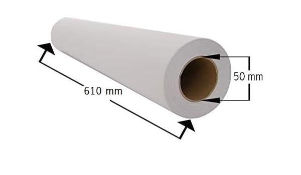 Papel Plotter 61 cm x 50 m 90 gramos m² Paquete de 4 rollos ...
