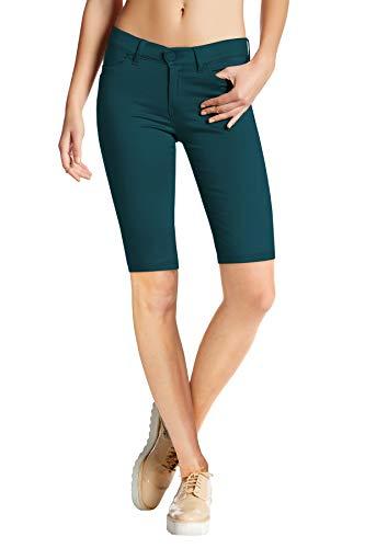Womens Perfectly Shaping Hyper Stretch Bermuda Shorts B44876X Teal 1X