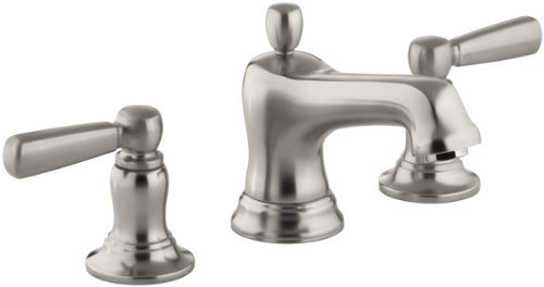 KOHLER K-10577-4-BN Bancroft Widespread Lavatory Faucet, Vibrant Brushed Nickel by Kohler