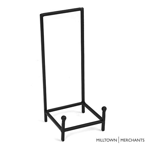 Milltown Merchants&Trade; Metal Display Stand - Plate Stand/Plate Holder - Black Metal Plate Stand - Portable Display Rack for Trade Shows, Office, or Home (1 Pack, Large Chair Stand) from Milltown Merchants