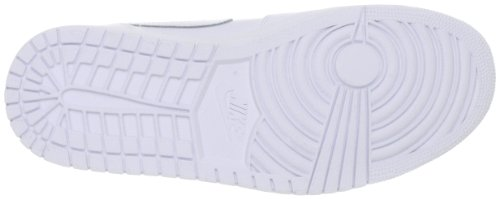 Jordan Air Jordan 1 Mid Uomo Bianco Pelle Scarpe ginnastica Display EU 47,5