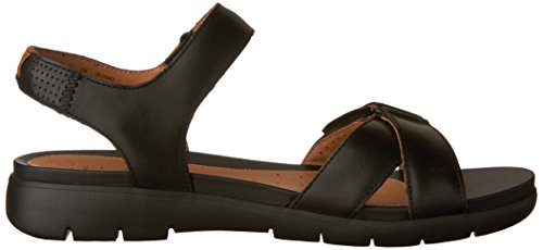 Walking 9 Clarks Black Sandal Womens Saffron Leather Un Size tqwqSRFp