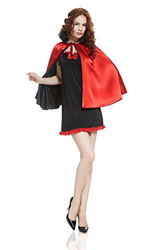 Adult Women Sexy Vampire Halloween Costume Lady Dracula Dress Up & Role Play (Appropriate Women Halloween Costumes)