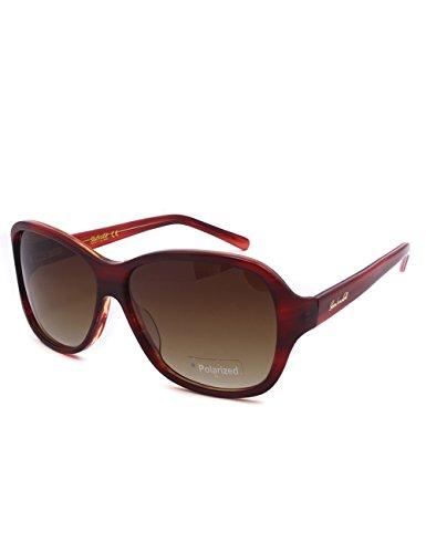 Brand Design Boutique Acetate Sunglasses Women Italy Design Polarized Gradient Lens Glasses Luxury Sun Glasses 1103 C1 (Red Stripe, - Design Italy Sunglasses