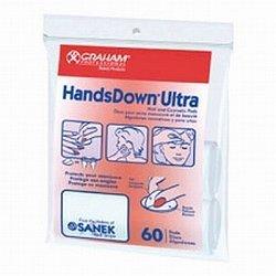 "Graham Handsdown Ultra Nail & Cosmetic Pads- White- 1.75 Round- 60 ct """
