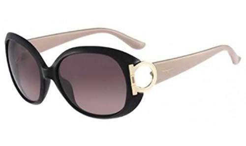 (Salvatore Ferragamo Sunglasses SF668S 001 Black 57 17 125)