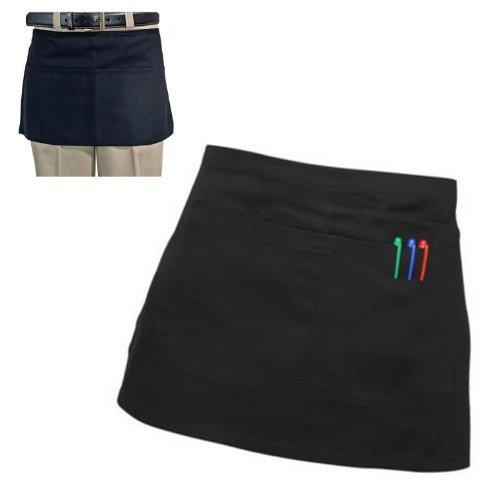 Black Short Waist BISTRO Pocket APRON for Bar Cafe Pub Waiter Waitress Barista by NA