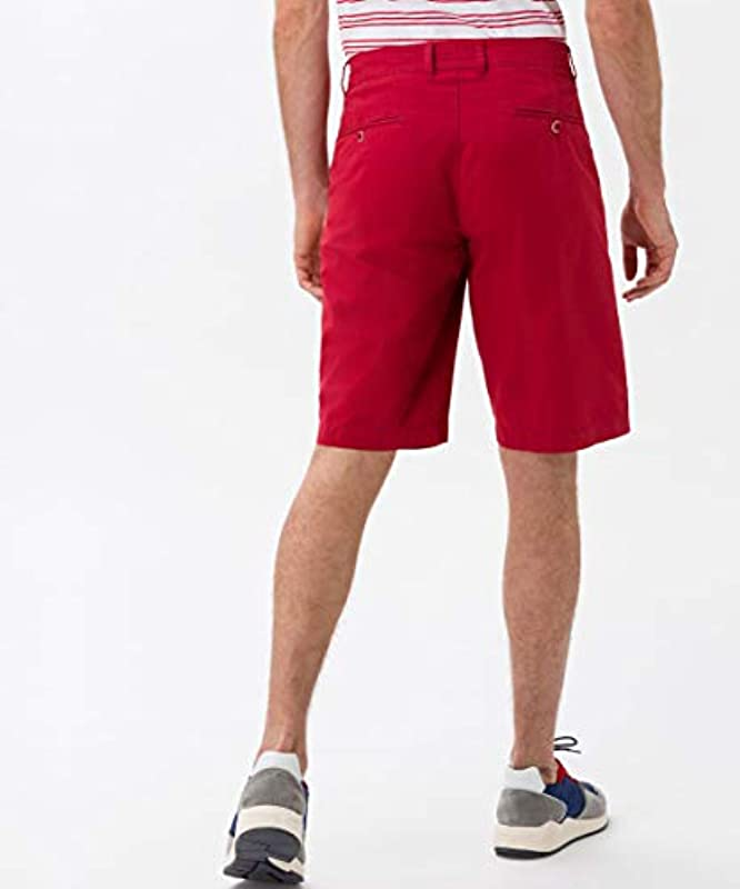BRAX Męskie Style Bari Bermudahose in Sportiver Chino-Optik Shorts, Rosa (Cherry 45), 28: Odzież