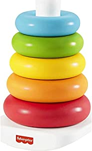 Fisher-Price Rock-a-Stack, Classic Ring Stacking Toy Made from Plant-Based Materials for Babies Ages 6 Months