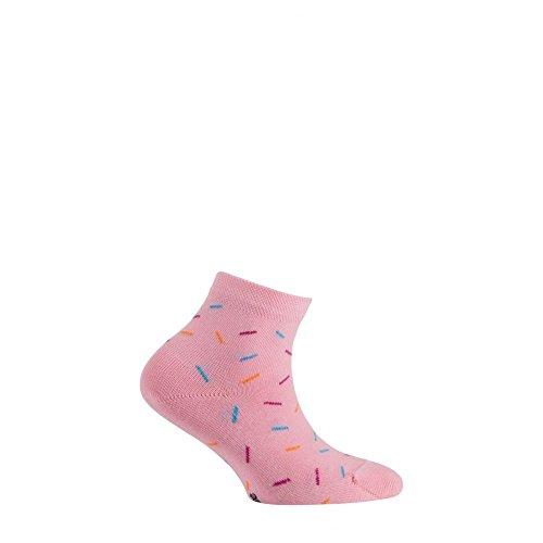 Coton Vermicelles Rose Chaussettes Courtes En Achile Motif HYPnSna