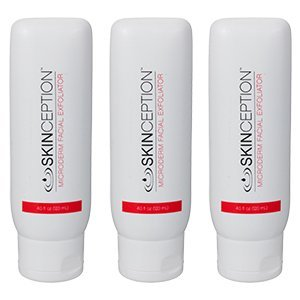 Microderm Facial Exfoliator 3 Bottles Anti-Aging Exfoliating Skin Cleanser Cream by Skinception by Roomidea by Leading Edge Health