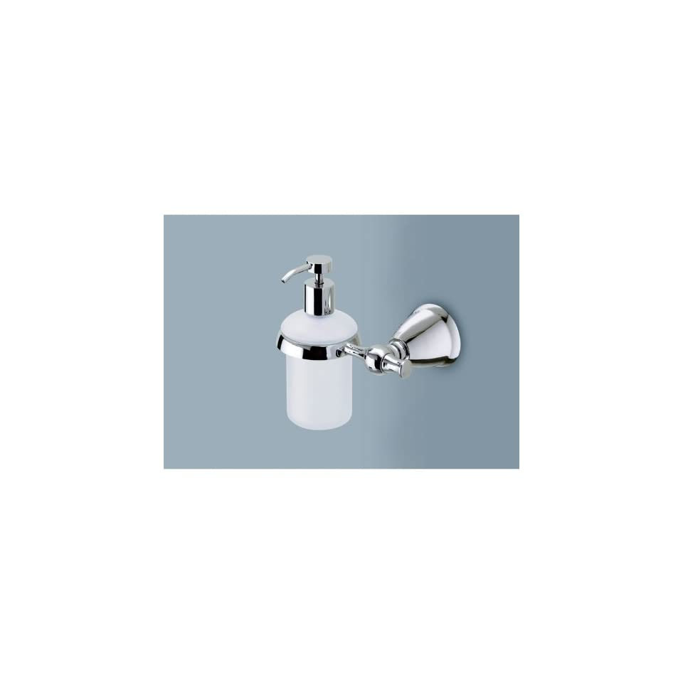 Soap Dispenser with Polished Chrome Wall Mount and Hand Pump LI81 13
