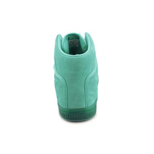 Reebok T Raww Herren Grün Leder Turnschuhe Schuhe Größe Neu EU 42