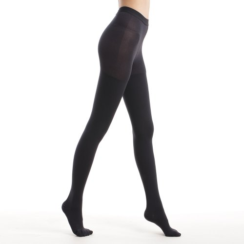 Fytto Style 1026 Women's Comfy Compression Pantyhose, 15-20mmHg (M, Black)