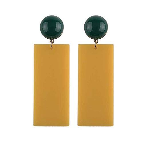5 Color Geometric Rectangle Resin Drop Earrings Fashion Women Jewelry Statement Earrings For Women ()