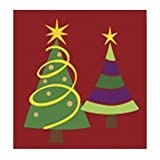 Home More 72071 9 in. Square Christmas Trees Insert