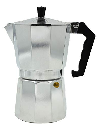 All For You Brew-Fresh Stovetop Espresso Maker Moka Pot (Aluminum) (1 Cup)