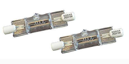 2pcs 25V 150W T4 RS-34 Bulb for PELTON & CRANE 606 Dental Exam & Operatory LF PLUS LF1 LF2 LFC LFC-2 LFTN LIGHT FANTASTIC I OVERHEAD, LIGHT FANTASTIC II III, 000681 006681 017133 2470 58912 Lamp
