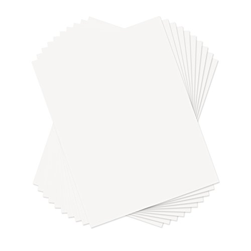 Sizzix 661151 Paper Leather Sheets 8-1/2-Inch by 11-Inch White, 10 Sheets ()