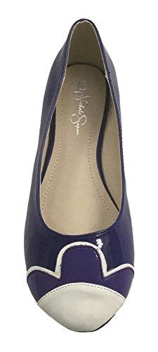 Nichole Simpson Nicole Simpson Femmes Slip-on Pétale Brevet Ballerine Chaussures Plates Royal