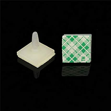 10 Nylon Plastic stick on PCB Spacer Standoff HC mm Hole support Locking Snap-in